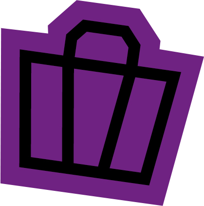 Shopping basket illustration on purple