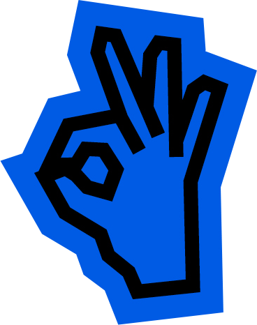 Hand Illustration on blue